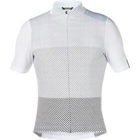 Mavic Cosmic Graphic Koszulka rowerowa z zamkiem błyskawicznym Mężczyźni, biały